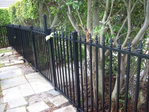 Black aluminum south florida fencing
