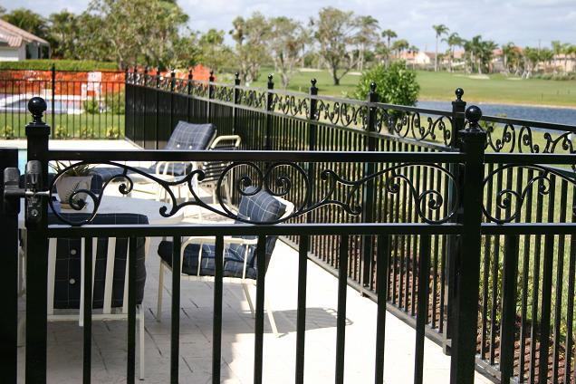 Black aluminum florida fencing